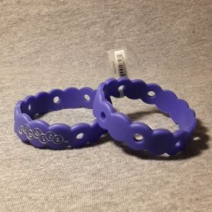 (2) Crocs vintage KIDS Jibbitz bracelets Purple